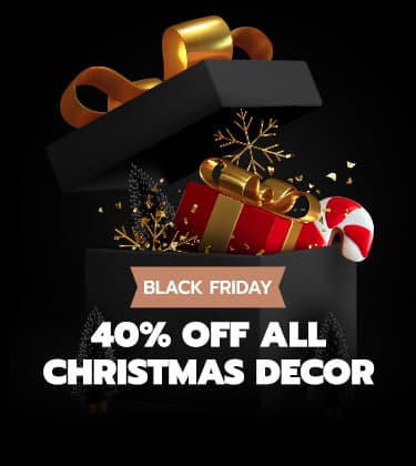 40% OFF Christmas Decor - Black Friday Special