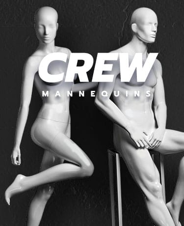 Introducing Crew, our new and exciting range of Male and Female Mannequins.E&OE.