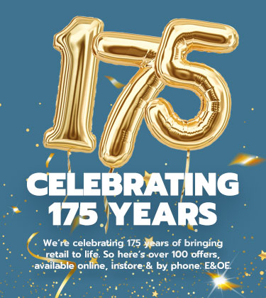 We're celebrating 175 years so here's over 100 offers just for you!